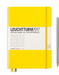 LEUCHTTURM1917 A5 NOTEBOOK LEMON RULED