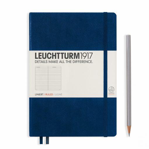 LEUCHTTURM1917 A5 NOTEBOOK NAVY RULED
