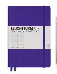LEUCHTTURM1917 A5 NOTEBOOK PURPLE RULED