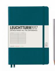 LEUCHTTURM1917 A5 NOTEBOOK PACIFIC GREEN RULED