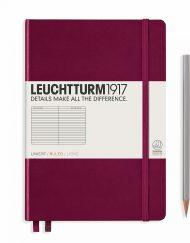 LEUCHTTURM1917 A5 NOTEBOOK PORT RED RULED