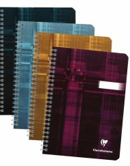 8546 CLAIREFONTAINE WIREBOUND NOTEBOOKS RULED 6 x 8¼