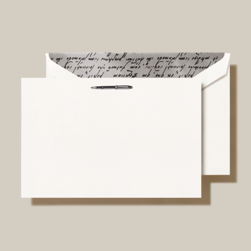 CRANE STATIONERY ENGRAVED FOUNTAIN PEN CARD CC3802