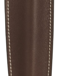 RECIFE LEATHER PEN POUCH CHOCOLATE