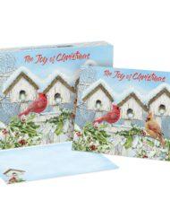 LANG CARDINAL BIRDHOUSE CHRISTMAS CARDS